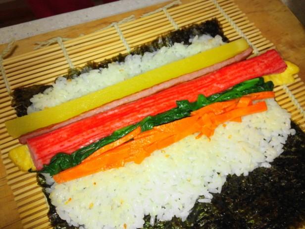 Making Kimbap Inside