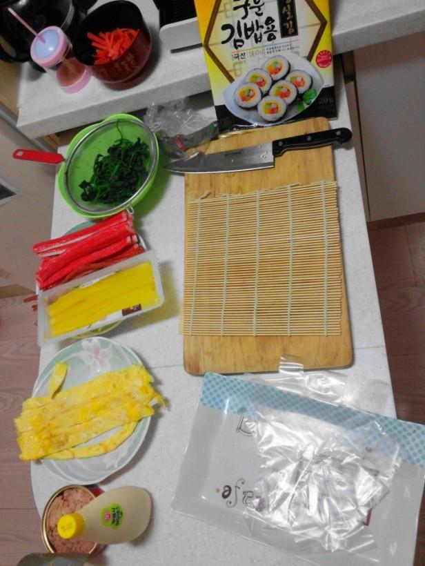 Making Kimbap Setup