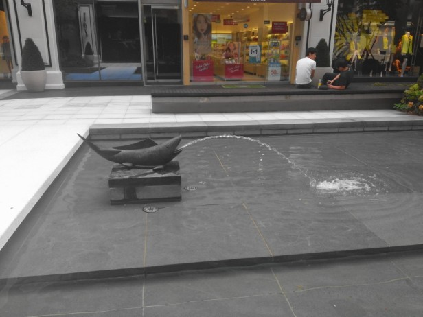 Songdo NC Cube Fish Fountain