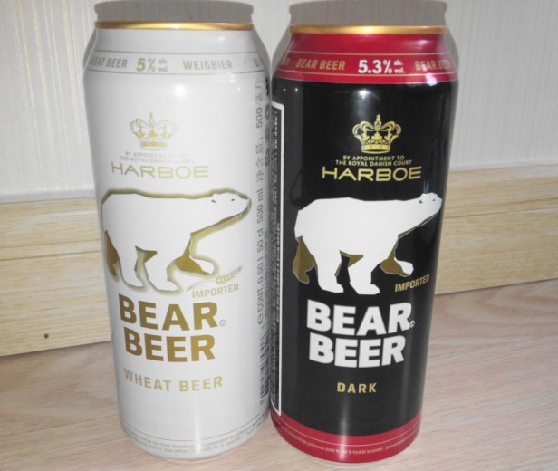 Bear Beer in South Korea Cans