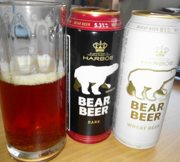 Bear Beer in South Korea Dark and Wheat