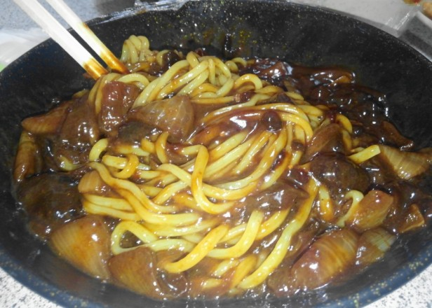 Chinese Delivery Food in South Korea Jajangmyeon mix