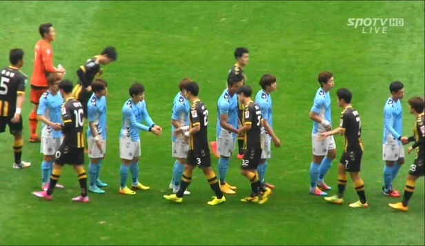 Daegu vs. Chungju Hummel before Kick Off