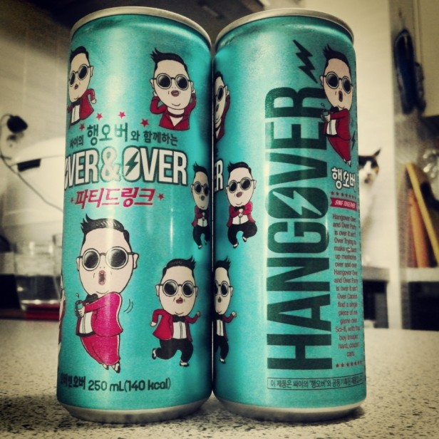 Energy Drink Korea - PSY Energy Over and Over Hangover