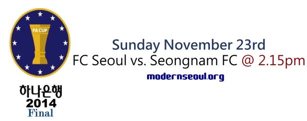 KFA Korean FA Cup 2014 Final November 23rd