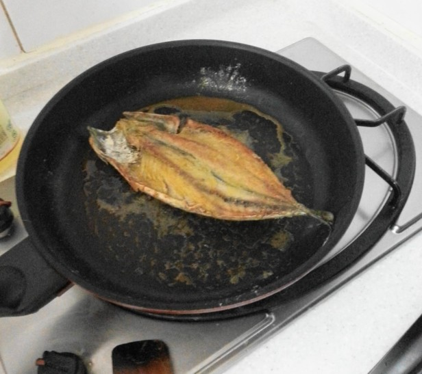 Korean Style Mackerel frying