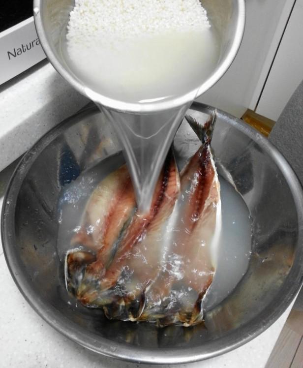 Korean Style Mackerel rice water