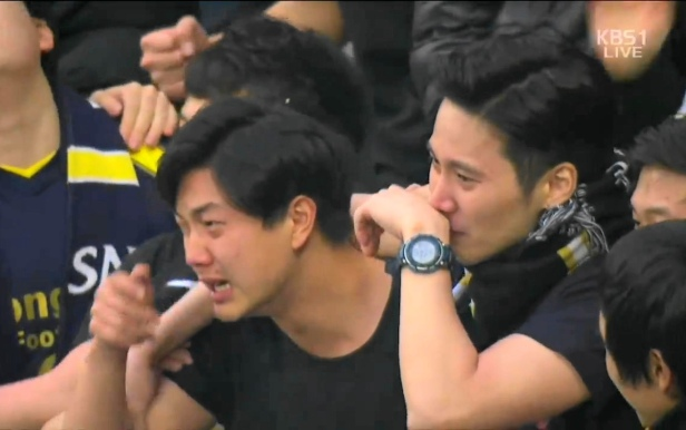 Seongnam FC Fans Crying at the  FA Cup Final