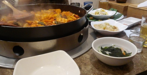 Cheongna Tak Galbi 2015 during meal