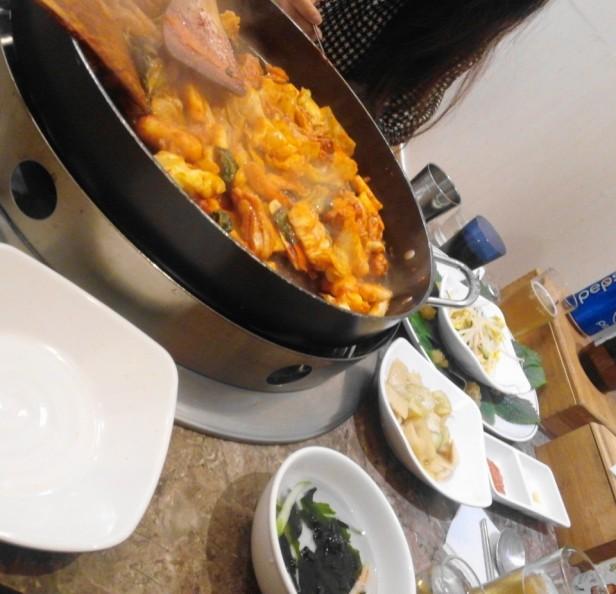 Cheongna Tak Galbi 2015 meal