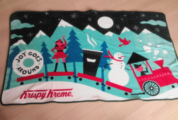 Krispy Kreme Korea Christmas 2014 Blanket