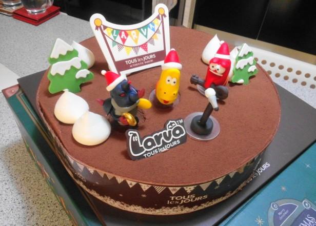 Larva Chocolate Christmas Cake 2014 Big
