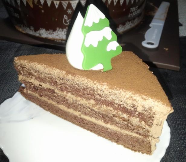 Larva Chocolate Christmas Cake 2014 Tree Slice