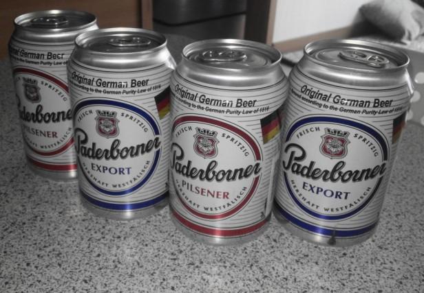 Paderborner German Beer cans