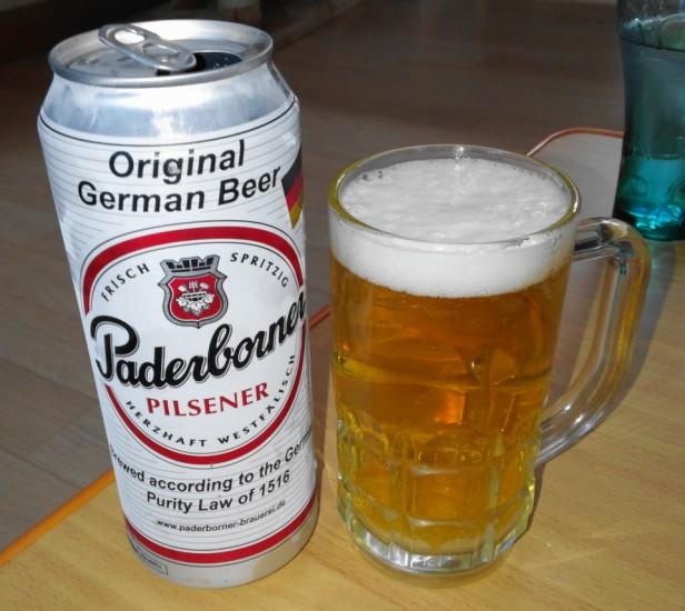 Paderborner German Beer Pilsener poured