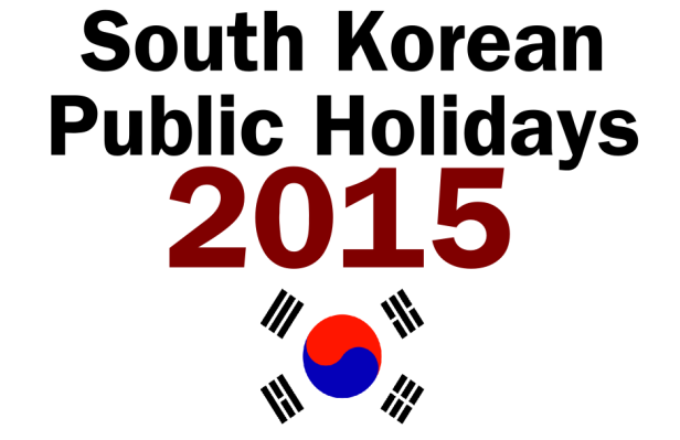 South Korean Public Holidays 2015