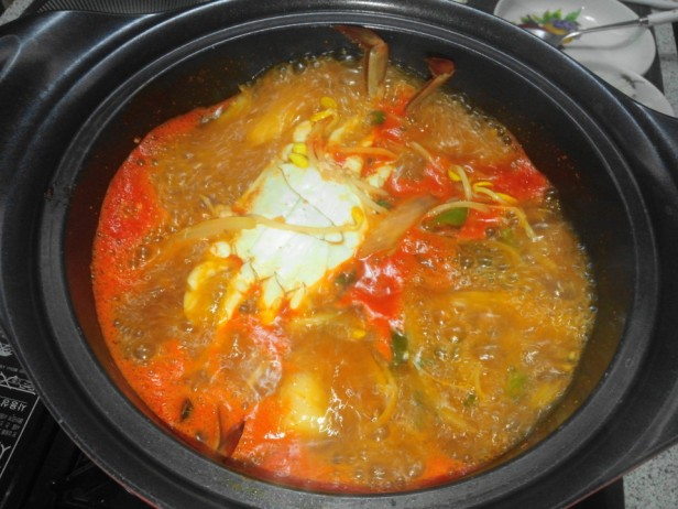 Homeplus Korean Spicy Seafood Stew Cooked
