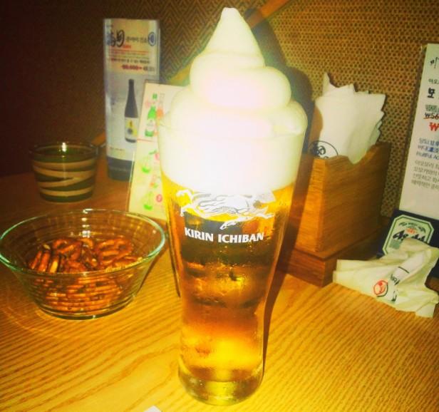 Izakaya Japanese Cheongna Incheon ice cream beer
