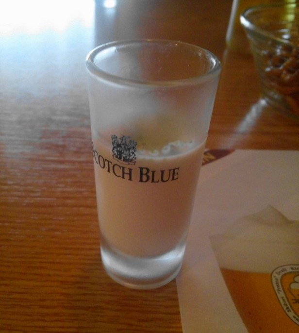 You're advised to drink this before the iced beer to protect your stomach.