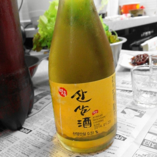 Korean Mountain Ginseng Wine Soju (1)