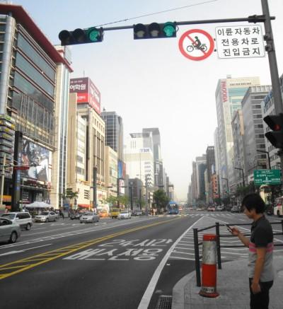 Main Street in Gangnam Seoul