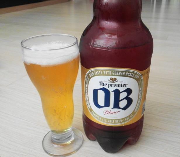 OB Pilsner Korean Beer poured