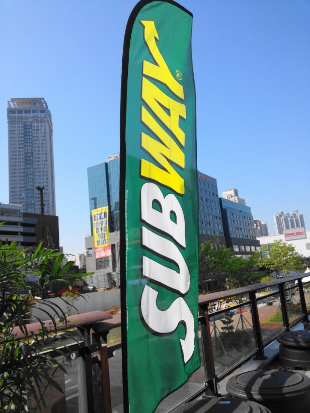 Subway Sandwich South Korea Flag Cheongna