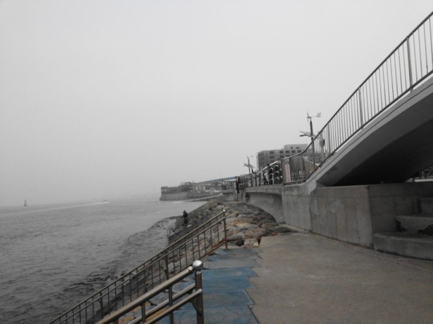 Wolmido Island Incheon sea wall
