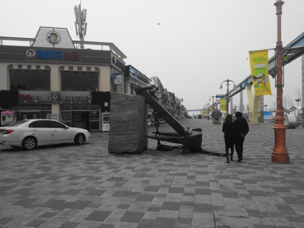 Wolmido Island Incheon seafront stores