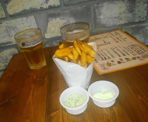 Avec Des Frites Korea chips beer