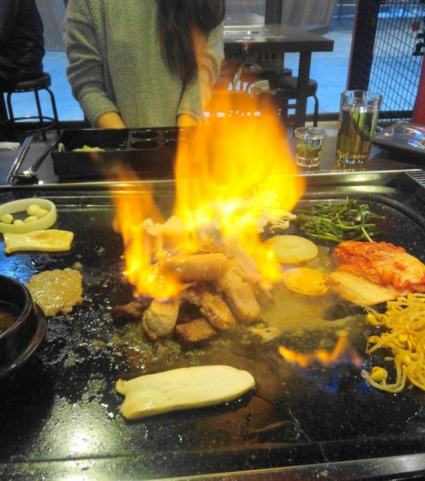 Hwatongsam Korean Barbecue fire cheongna