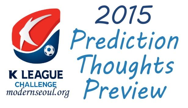 K League Challenge 2015 Prediction Preview