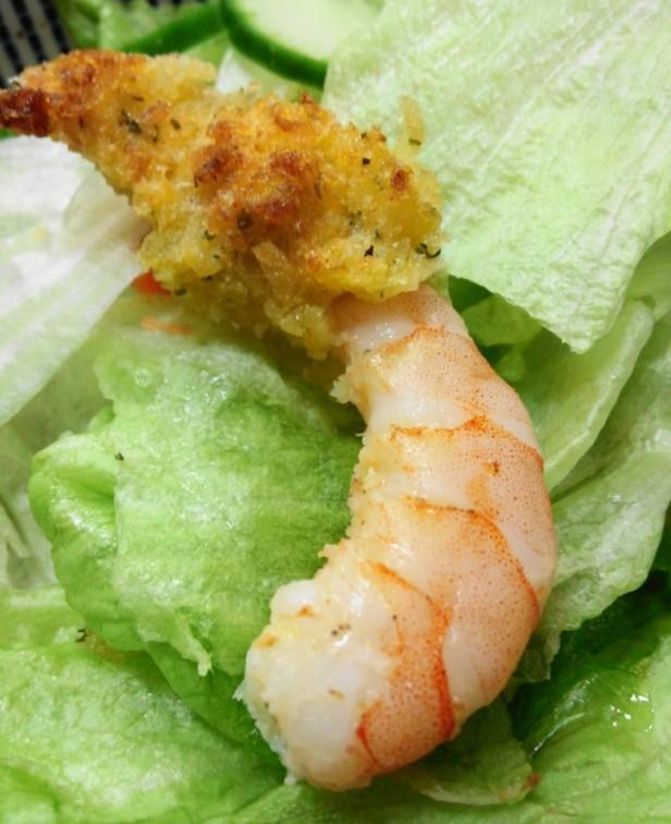 Korean Battered Shrimp Scampi close
