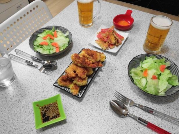 Korean Battered Shrimp Scampi Tempura lunch