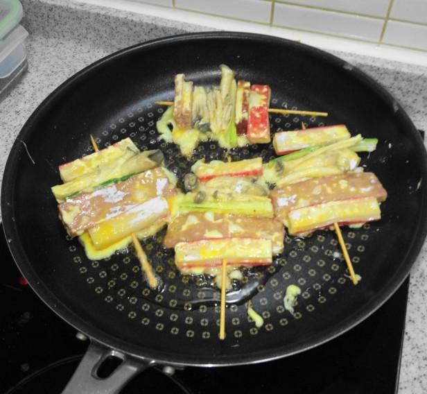 Korean Jeon Pancakes kebab cooking