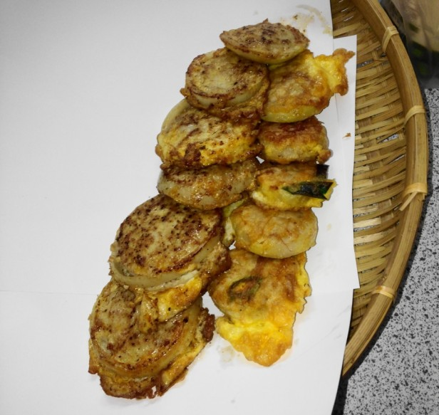 Korean Jeon Pancakes pork finished
