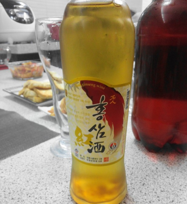 Korean Red Ginseng Wine Bottle