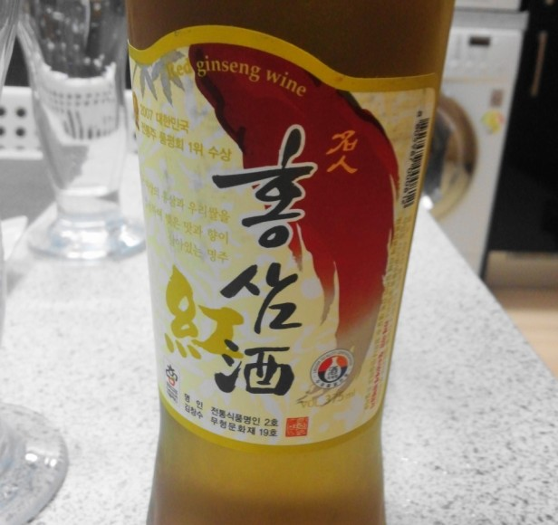 Korean Red Ginseng Wine front