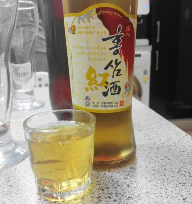 Korean Red Ginseng Wine Shot