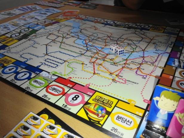 Korean Seoul Subway Monoploy Board Game Daiso