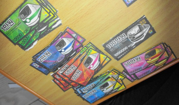 Korean Seoul Subway Monoploy Board Game Money