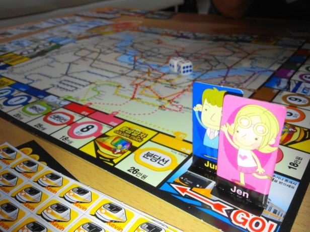 Korean Seoul Subway Monoploy Board Game Play