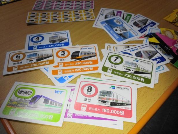 Korean Seoul Subway Monoploy Board Game Stations