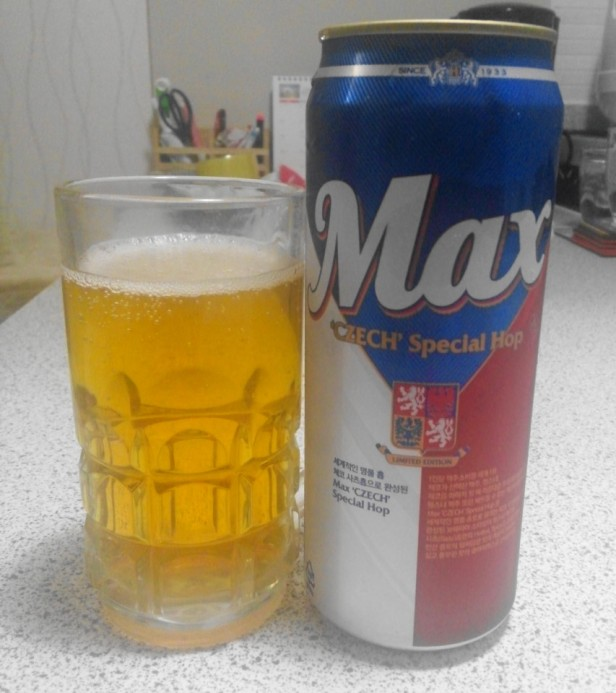 Max Beer Korea Czech Special Hop Poured
