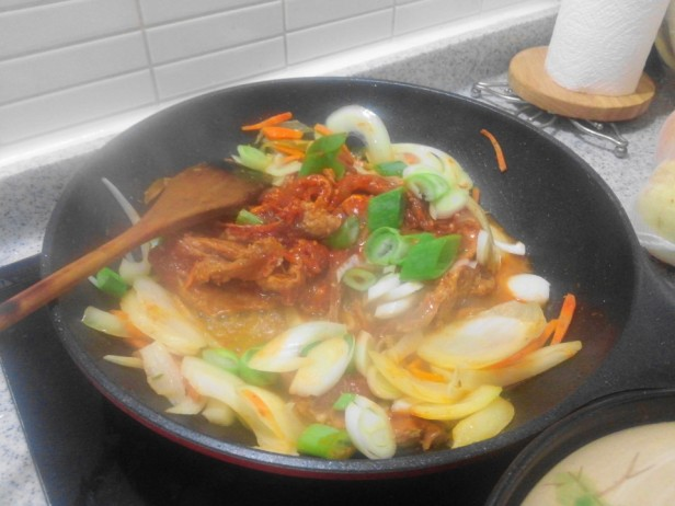 Pork Galbi at Home cooking homeplus