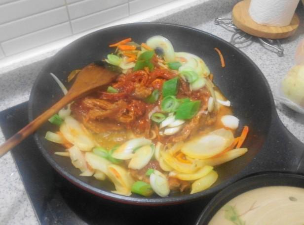 Pork Galbi at Home cooking