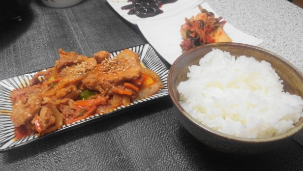 Pork Galbi at Home finished with rice