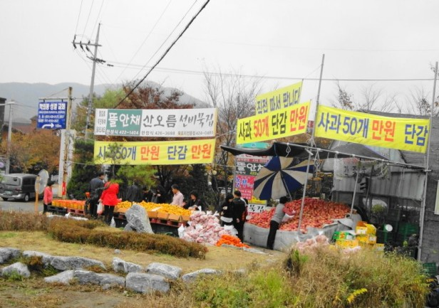 Roadside Apples for Sale Uiwang South Korea