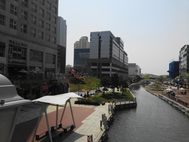 Cheongna Canal Park Incheon bright