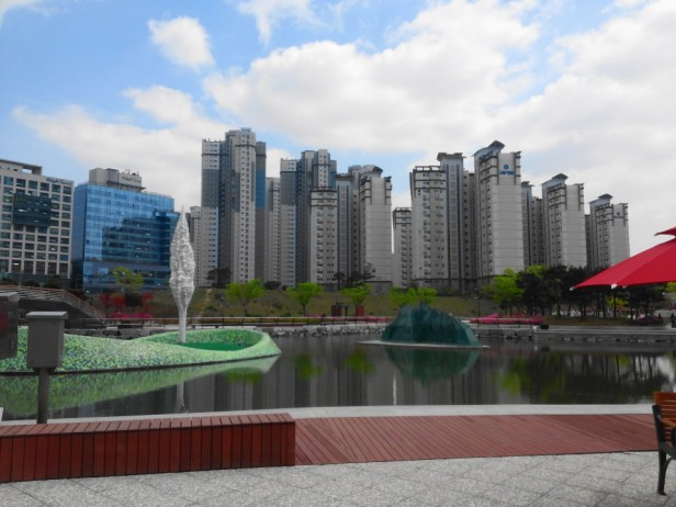 Cheongna Canal Park Incheon spring